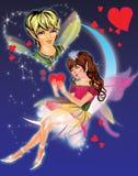 Sonhando a menina do duende Imagens de Stock Royalty Free