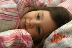 Sonhando a menina doce Fotos de Stock Royalty Free