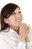 Sonhando a mulher de negócio Foto de Stock