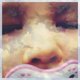 Sonhando o bebê Fotografia de Stock