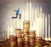 Sonhando o dinheiro Fotos de Stock Royalty Free