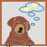 Sonhando o filhote de cachorro Foto de Stock Royalty Free