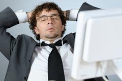 Sonhando o homem de negócios Fotografia de Stock