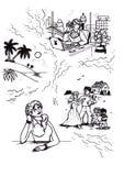 Sonhando os planos da vida da mulher (2007) ilustração stock