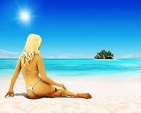 Sonhe férias Imagens de Stock