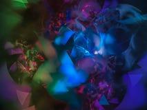 Sonho abstrato da rotação da decoração do fractal, mágica intrincada fotografia de stock royalty free