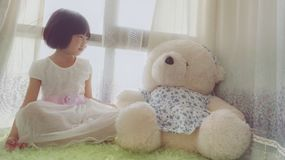 Sonho asiático da criança fotos de stock royalty free