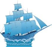 Sonho azul Ilustração Royalty Free