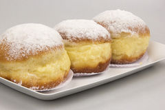 Sonho, Brazilian bakery dream. Brazilian typical sweet. Royalty Free Stock Photos