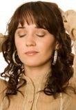 Sonho Curly-haired da mulher Imagem de Stock Royalty Free