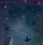 Sonho da baleia ilustração stock