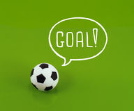 Sonho da bola de futebol Fotografia de Stock Royalty Free