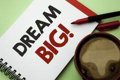 Sonho da escrita do texto da escrita grande Ideia do desafio da estratégia da visão do sonho do alvo do plano da motivação do sig Fotos de Stock