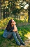 Sonho da menina Fotos de Stock
