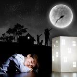 Sonho da noite Fotos de Stock Royalty Free