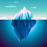 Sonho de Lowpoly da serenidade do iceberg de Quarz ilustração stock