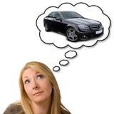 Sonho do carro novo caro Imagem de Stock