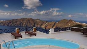 Sonho do console de Santorini imagens de stock royalty free