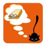 Sonho do gato Fotos de Stock Royalty Free
