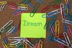 Sonho do negócio e conceito da visão Imagens de Stock Royalty Free