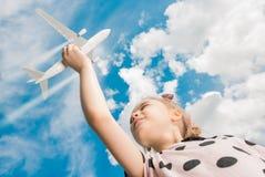Sonho do voo do avião Imagem de Stock Royalty Free