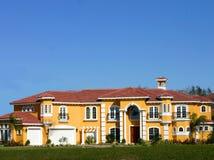 Sonho dourado da mansão Imagem de Stock