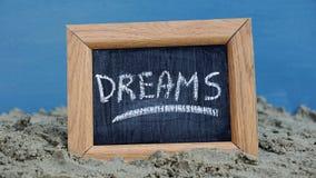 Sonho escrito Fotografia de Stock Royalty Free