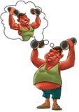 Sonho gordo do homem Imagens de Stock Royalty Free