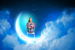 Sonho na noite Imagens de Stock