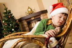 Sonho na noite de Natal Fotografia de Stock
