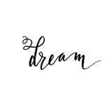 Sonho - rotulação tirada mão ilustração royalty free