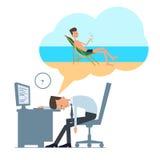 Sonho sobre férias ilustração stock