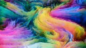 Sonhos coloridos da pintura ilustração do vetor
