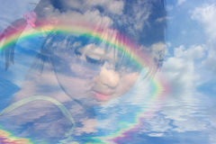 Sonhos da infância fotos de stock royalty free