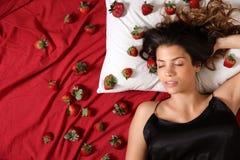 Sonhos da morango Imagens de Stock