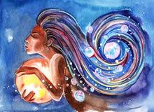 Sonhos da noite ilustração do vetor