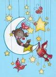 Sonhos da noite Imagem de Stock
