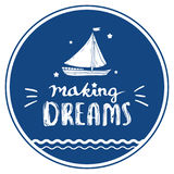 Sonhos de fatura caligráficos para o cartaz ilustração do vetor