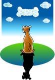 Sonhos do cão Ilustração Stock
