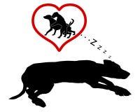 Sonhos do cão Imagem de Stock Royalty Free