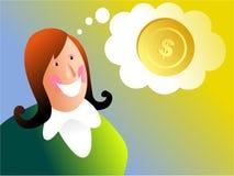 Sonhos do dinheiro ilustração stock