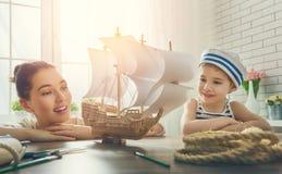 Sonhos do mar, das aventuras e do curso Imagem de Stock