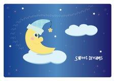 Sonhos doces da lua Fotos de Stock Royalty Free
