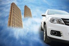Sonhos sobre a casa e o carro imagem de stock royalty free