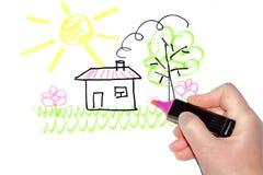 Sonhos sobre a casa imagem de stock