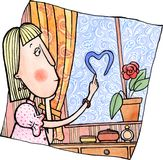 Sonhos sobre o amor ilustração stock