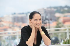 Sonia Braga. Actress Sonia Braga attends the 'Aquarius' photocall during the 69th Annual Cannes Film Festival at the Palais des Festivals on May 18, 2016 in Royalty Free Stock Images