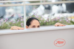 Sonia Braga. Actress Sonia Braga attends the 'Aquarius' photocall during the 69th Annual Cannes Film Festival at the Palais des Festivals on May 18, 2016 in Stock Photos