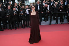 Sonia Braga. Attends a screening of 'Julieta' at the annual 69th Cannes Film Festival at Palais des Festivals on May 17, 2016 in Cannes, France royalty free stock photos