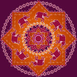 słonia mandala Obraz Royalty Free